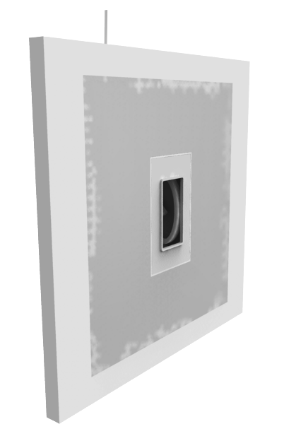 Drywall with Smoothline flush wall plate flange and joint compound
